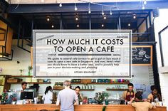How much does it cost to open a new cafe in Singapore? Owning a cafe seems to be a common dream for many people, and with new cafes sprouting out all over Sin