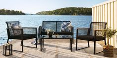 Garden Furniture, Outdoor Furniture Sets, Outdoor Chairs, Outdoor Decor, Villa, Oas, Inspiration, Home Decor, Outdoor Garden Furniture