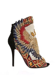 Tuyet ankle boot with embroidered leather eagle ss 2012