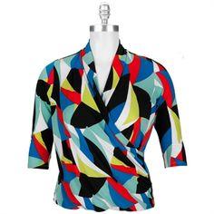 Vince Camuto Plus Size Wrap Front Jersey Knit Top #VonMaur #VinceCamuto #PlusSize #Top