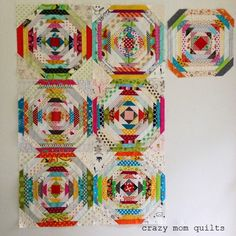 crazy mom quilts: plenty of pineapples - pieced 'freestyle' - can't wait to see this finished!