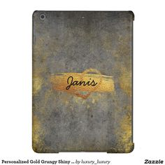 Personalized Gold Grungy Shiny Glitter Case iPad Air Case