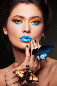 pro Model: Ekaterina Spivak Make up artist and hair: Anastasia Soloveva Photographer and retouch: Ivan Alekseev Makeup Photography, Girl Photography, Fashion Photography, Butterfly Face, Butterfly Kisses, Makeup Art, Eye Makeup, Kreative Portraits, High Fashion Makeup
