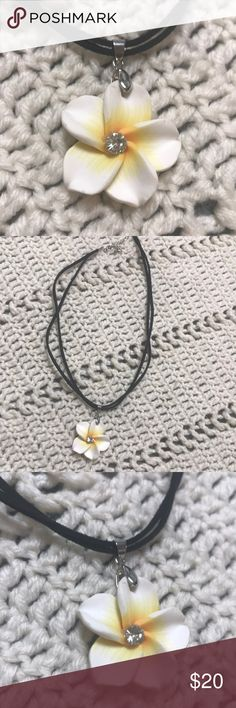 Authentic l Hawaii l Necklace Authentic Hawaii Necklace From Hawaii Raw hide double chain adjustable Jewelry Necklaces