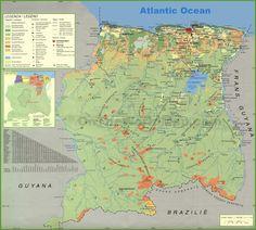 MapasBlog: Mapas de Suriname