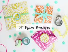 Four circles make a square with this DIY! Learn how to make square envelopes with the Martha Stewart Large Circle Cutter!
