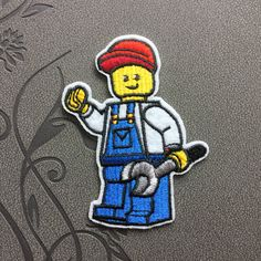 Engineer Man Patch iron on patches Sew on patches Cartoon patch Iron on applique game patch movie patch