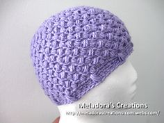 Ravelry: Bean Stitch Beanie - Sizes Baby to Adult pattern by Meladoras Creations