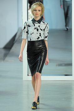 Derek Lam Fall 2012 RTW New York Fashion Week -- Leather Pencil Skirt.