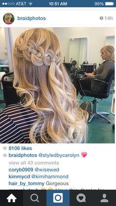 Four braid with curls