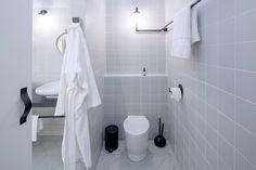 Hotel bathroom design for Sleep, NoChintz Hotel Bathroom Design, Hospitality Design, Bathroom Hooks, Toilet Paper, Sleep, Interior Design, Creative, Nest Design, Home Interior Design