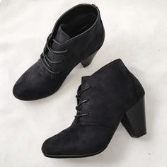 """Price Drop NWT Black Lace up Bootie 3"""" Heel Cozy on up in the Reno by Pierre Dumas.  Easily dress them up in a shift dress with tights or update your off duty uniform in distressed denim.  Look sharp head-to-toe in a classic pair that will have heads turning as you strut by!  3"""" heel and lace up makes this Bootie versatile for any outfit and foot.  Lightly cushioned for extra comfort. Pierre Dumas Shoes Ankle Boots & Booties"""