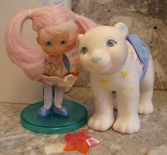 Vintage Moondreamers Blinky and Ursa Bear, Hasbro 1986 ahhh i had this! the bear glowed in the dark