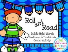This engaging activity is perfect for your students that need to practice reading Dolch sight words! This file includes 11 game boards. Students can play the game alone or with a partner. These game boards were designed in black and white so you can save your color ink! I print them on colored card stock and laminate for a reusable resource.