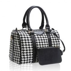 Love this one! - $12.96 Casual Women's Tote With Bucket Shape PU Leather Checked Design