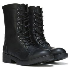 Women's Military Up Buckle Combat Boots Mid Knee High Exclusive ...