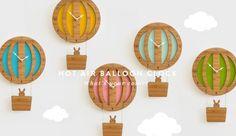 decoylab hot air balloon clocks