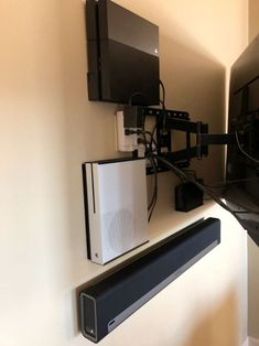 Customer Images of their TV and Media Setups, after installing HIDEit Mounts. Customer Images of their TV and Media Setups, after installing HIDEit Mounts Ps4 Wall Mount, Gaming Room Setup, Computer Gaming Room, Gaming Lounge, Gaming Rooms, Diy Casa, Video Game Rooms, Game Room Design, Gym Design