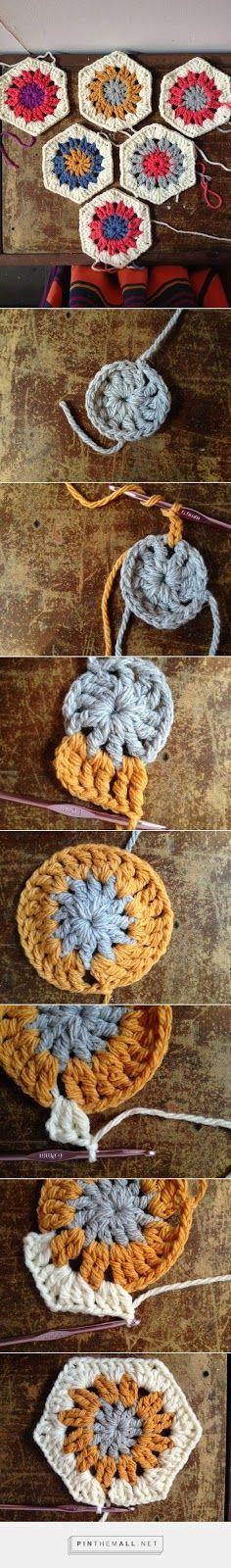 How To Crochet A Hexagon In Ten Minutes!