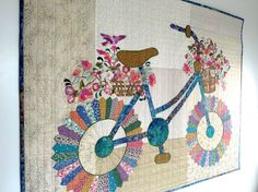 Whimsical bicycle quilt by Sally Manke