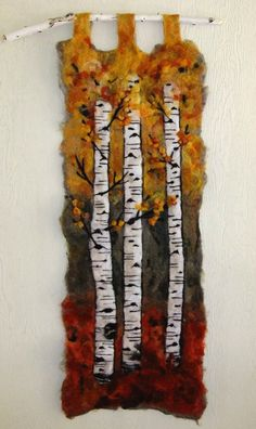 felted tapestry - aspen - LOVE this