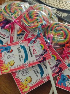 My Little Pony Tarjetas de invitación