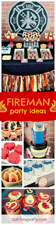 This Fireman birthday is on fire!!! Make sure you check it out!! The birthday cake is a blast!! See more party ideas and share yours at CatchMyParty.com