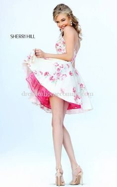 Taffeta Sherri Hill 32246 Pink Homecoming Dress 2015