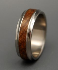 Windham Wooden Wedding Rings by MinterandRichterDes on Etsy LOVE it square radiant cut wedding rings - fashion wedding rings PERFECT! Titanium Wedding Rings, Titanium Rings, Wedding Ring Bands, Wedding Jewelry, Bustiers, Piercing, Wooden Rings, Wedding Men, Sterling Silver Rings