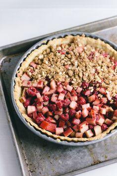 rhubarb raspberry tart
