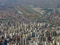 6: Congonhas Airport  Sao Paulo, Brazil    Background:  Most major cities have an airport, but rarely are they built just 5 miles from the city center, especially in metropolises like Sao Paulo. Congonhas' close proximity to downtown can be attributed in part to the fact that it was completed in 1936, with the city experiencing rapid development in the following decades.