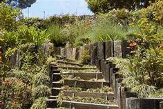 railroad ties Railroad Tie Retaining Wall, Railroad Ties, Retaining Walls, Yahoo Images, Paths, Gazebo, Image Search, Stairs, Backyard