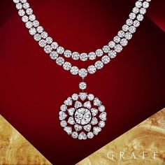 double row diamond necklace 153 carats of magnificent diamonds. Chitra Graff double row diamond necklace 153 carats of magnificent diamonds. Diamond Pendant Necklace, Diamond Jewelry, Diamond Necklaces, Gold Necklaces, Modern Jewelry, Luxury Jewelry, Gems Jewelry, Fine Jewelry, Graff Jewelry