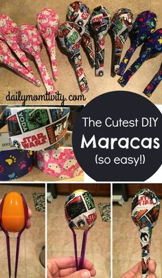 DIY maracas for kids that are so easy to make! Perfect idea for a school store… Fun Projects For Kids, Diy For Kids, Activities For Kids, Recycling Projects For Kids, Mexico Crafts, Diy Niños Manualidades, Fun Crafts, Arts And Crafts, Creative Crafts
