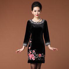 Ingenious Scoop Neck Mandarin Style Dress - Qipao - Cheongsam - Women
