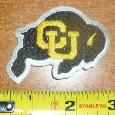 University of Colorado CU Embroidered iron on patch by natinal emblem.   6.99. great Quality 1466e40b3b2