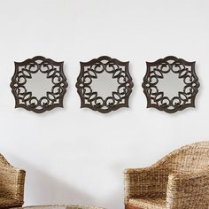 Bombay 3-piece Swirl Wall Mirror Set
