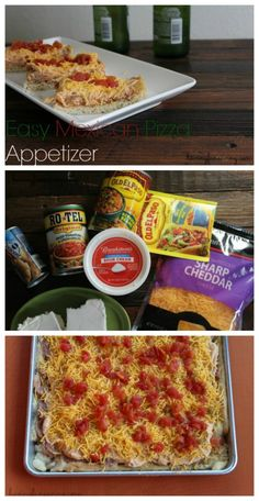 Easy Mexican Pizza Appetizer recipe on Having Fun Saving