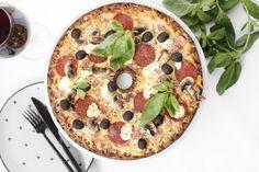 Fljótleg og holl súrdeigs pizza