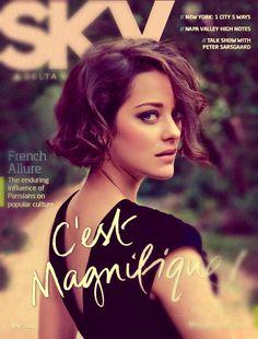 Delta Sky Magazine, June 2011, cover photographer: Dominique Issermann Marion Cotillard
