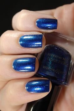 Max Factor Odyssey Blue 6 5 Navy Nail Polish Nails Metallic