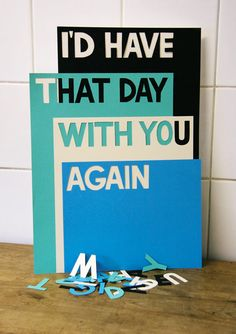 And then put a picture if a moment you had that day together under the word again