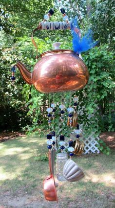 Pot wind chime! Easy to get the materials you need to make this creative craft!