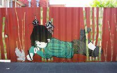 Street art in Melbourne, Australia by Be Free