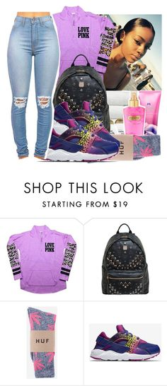 """Untitled #914"" by chynaloggins ❤ liked on Polyvore featuring Victoria's Secret, MCM, HUF, NIKE, women's clothing, women, female, woman, misses and juniors"