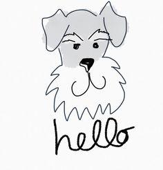 Playing on my tablet.#schnauzer  #beardeddogs #makesmesmile