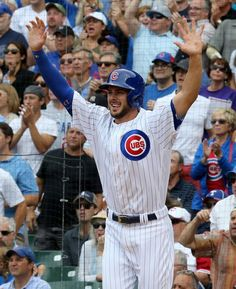 Photos of Kris Bryant, the 2016 National League MVP and the Cubs' second overall pick in the 2013 draft. Bryant Baseball, Baseball Boys, Mlb Teams, Sports Teams, Cubs Players, Cubs Win, Tyler Seguin, Go Cubs Go, National League