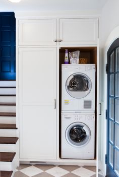Laundry Room Design Ideas, Pictures, Remodels and Decor Grey Laundry Rooms, Laundry Room Shelves, Laundry Room Remodel, Laundry Closet, Laundry Room Organization, Laundry Room Design, Laundry In Bathroom, Laundry Cabinets, Design Ideas