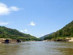 beautiful nature during the trip to Luan Prabang by slow boat.