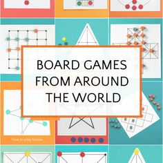 Great traditional games from around the world to teach thinking skills. Abstract strategy games are fun to play over and over. Detailed instructions, videos and many printable game boards. New Year's Games, Fun Games, Games For Kids, Games To Play, Group Games, Kids Fun, Around The World Games, Around The Worlds, Printable Board Games